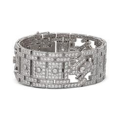 37 ctw Diamond Designer Bracelet 18K White Gold