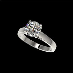 2 ctw Certified Quality Diamond Engagement Ring 10K White Gold