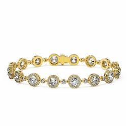 12 ctw Cushion Cut Diamond Designer Bracelet 18K Yellow Gold