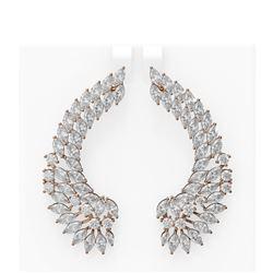 18.48 ctw Diamond Earrings 18K Rose Gold