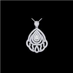 2 ctw Micro Pave VS/SI Diamond Designer Necklace 18K White Gold