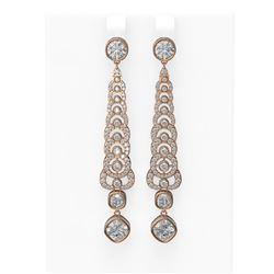 6.25 ctw Diamond Earrings 18K Rose Gold