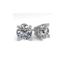 2.50 ctw Certified VS/SI Diamond Stud Earrings 14K White Gold