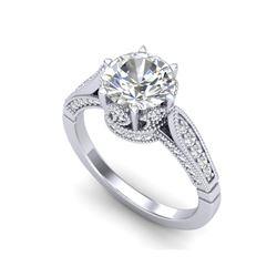 2.2 ctw VS/SI Diamond Art Deco Ring 18K White Gold