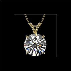 2.50 ctw Certified Quality Diamond Necklace 10K Yellow Gold