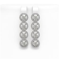 6.14 ctw Diamond Micro Pave Earrings 18K White Gold