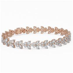 19 ctw Marquise Cut Diamond Designer Bracelet 18K Rose Gold