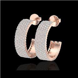4.50 ctw Micro Pave VS/SI Diamond Earrings 14K Rose Gold