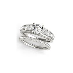 2.75 ctw Certified VS/SI Diamond 2pc Set Ring Wedding 14K White Gold