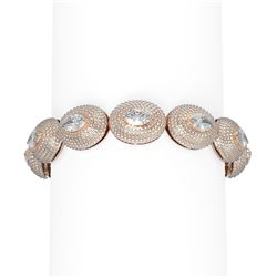 21 ctw Marquise Diamond Bracelet 18K Rose Gold