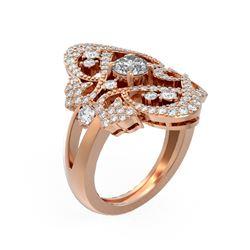 2.02 ctw Diamond Ring 18K Rose Gold
