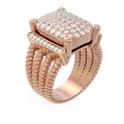 1.85 ctw Diamond Ring 18K Rose Gold