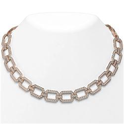 23 ctw Diamond Designer Necklace 18K Rose Gold