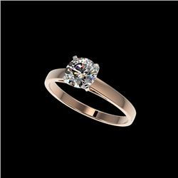 .97 ctw Certified Quality Diamond Engagement Ring 10K Rose Gold