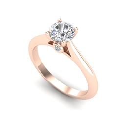 0.83 ctw VS/SI Diamond Solitaire Art Deco Ring 18K Rose Gold