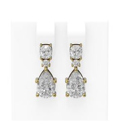 4.75 ctw Diamond Earrings 18K Yellow Gold