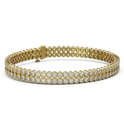 9 ctw Diamond Designer Bracelet 18K Yellow Gold
