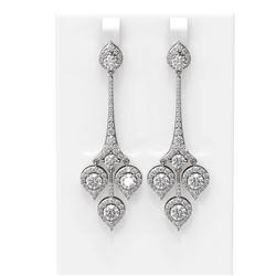 7.61 ctw Diamond Earrings 18K White Gold