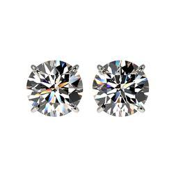 3.05 ctw Certified Diamond Stud Earrings 10K White Gold
