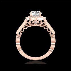 1.91 ctw VS/SI Diamond Solitaire Art Deco Ring 18K Rose Gold