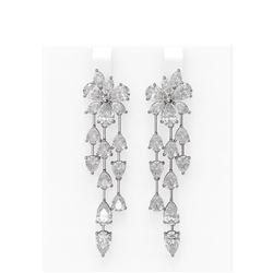 12.21 ctw Diamond Earrings 18K White Gold