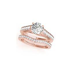 1.7 ctw Certified VS/SI Diamond 2pc Wedding Set 14K Rose Gold