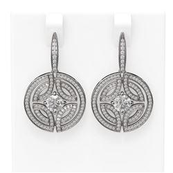 3.36 ctw Diamond Earrings 18K White Gold