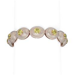 22 ctw Fancy Yellow Diamond Bracelet 18K Rose Gold