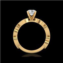 1.01 ctw VS/SI Diamond Solitaire Art Deco Ring 18K Yellow Gold
