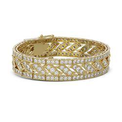 20 ctw Diamond Designer Bracelet 18K Yellow Gold
