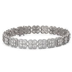 16.5 ctw Diamond Designer Bracelet 18K White Gold