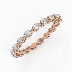 2.66 ctw Pear Cut Diamond Eternity Ring 18K Rose Gold