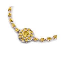 72.38 ctw Canary Citrine & VS Diamond Necklace 18K Rose Gold