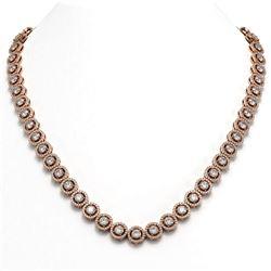 23.95 ctw Diamond Micro Pave Necklace 18K Rose Gold