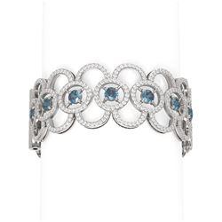 20 ctw Diamond Bracelet 18K White Gold