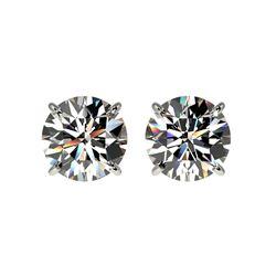 2.09 ctw Certified Quality Diamond Stud Earrings 10K White Gold