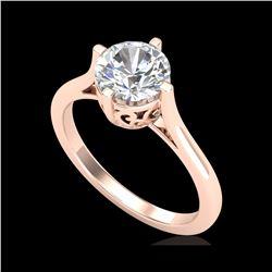 1.25 ctw VS/SI Diamond Solitaire Art Deco Ring 18K Rose Gold