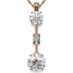 2.5 ctw Diamond Designer Necklace 18K Rose Gold