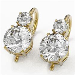 1.8 ctw Diamond Designer Earrings 18K Yellow Gold