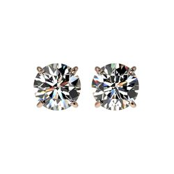 1.50 ctw Certified Quality Diamond Stud Earrings 10K Rose Gold