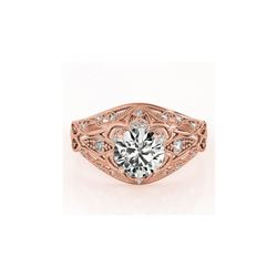 0.87 ctw Certified VS/SI Diamond Antique Ring 18K Rose Gold