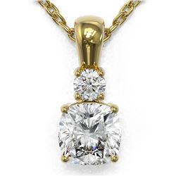 0.6 ctw Cushion Cut Diamond Designer Necklace 18K Yellow Gold