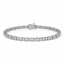 9 ctw Princess Cut Diamond Designer Bracelet 18K White Gold