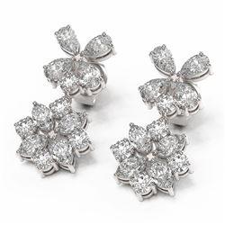 5.3 ctw Diamond Designer Earrings 18K White Gold