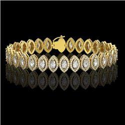 11.13 ctw Marquise Cut Diamond Micro Pave Bracelet 18K Yellow Gold