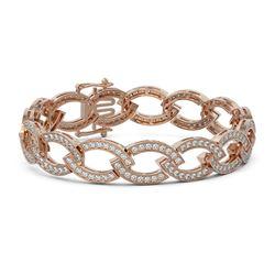 7.5 ctw Diamond Designer Bracelet 18K Rose Gold