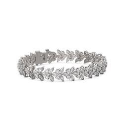 18 ctw Marquise Cut Diamond Designer Bracelet 18K White Gold