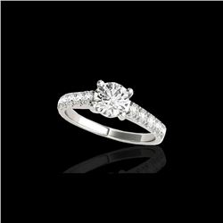 2.1 ctw Certified Diamond Solitaire Ring 10K White Gold