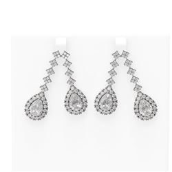 10.25 ctw Diamond Earrings 18K White Gold