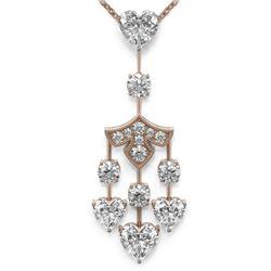 3.75 ctw Heart Diamond Designer Necklace 18K Rose Gold